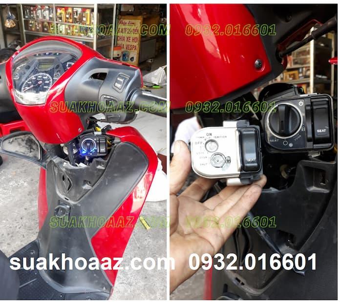 Độ ổ khóa Smartkey cho xe SH Việt Nam