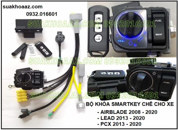 Bộ khóa Smartkey lắp cho AirBlade, Lead, PCX