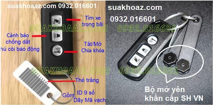 Các tính năng trên chìa khóa Smartkey Honda 3 nút