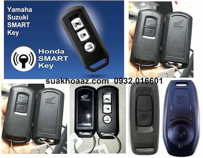 Các mẫu chìa khóa Smartkey làm lại cho xe máy Honda, Yamaha, Suzuki