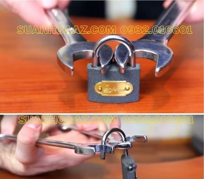 Mở ổ khóa cửa bằng cơ lê
