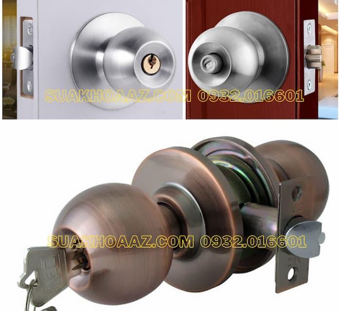 Sửa Ổ khóa tay nắm tròn cho cửa gỗ, cửa nhôm, cửa sắt, cửa nhựa
